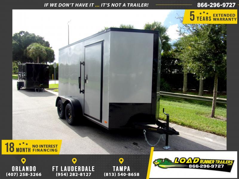 *111086* 6x12 Enclosed Cargo Trailer |LRT Tandem Axle Trailers 6 x 12