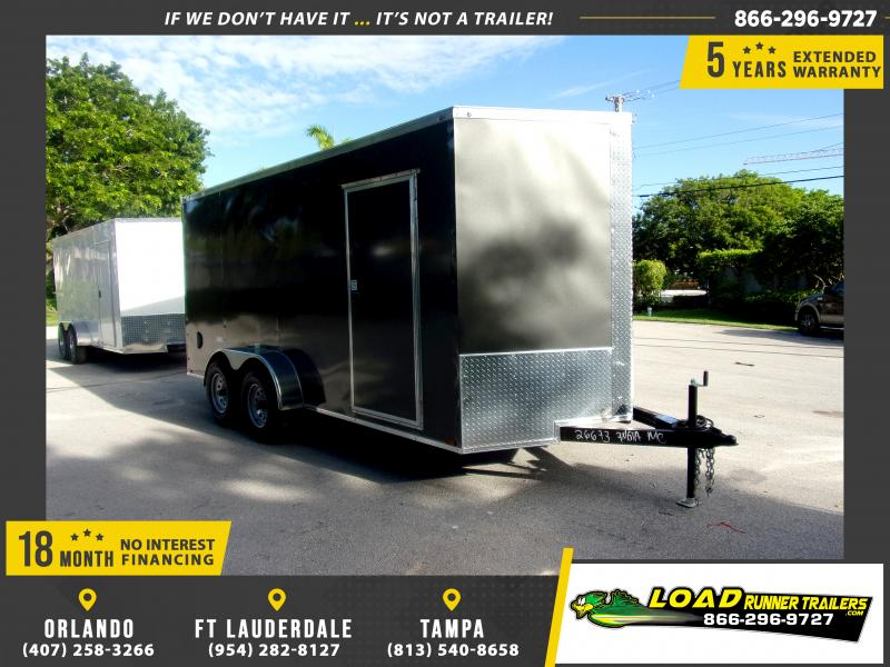 *116590* 7x16 Enclosed Cargo Trailer  LRT Tandem Axle Trailers 7 x 16