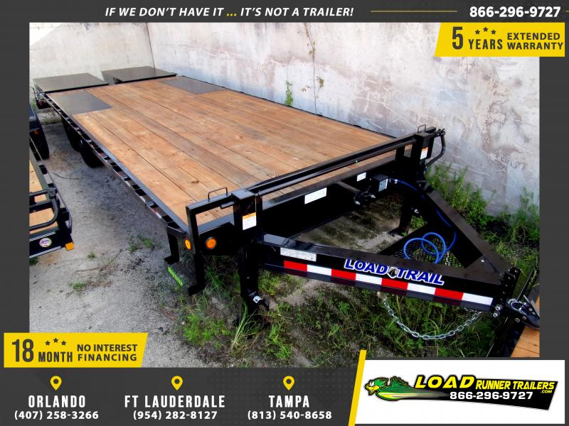 *110235* 8.5x24 Flatbed Deck Over Trailer |LRT Tandem Axle Trailers 8.5 x 24