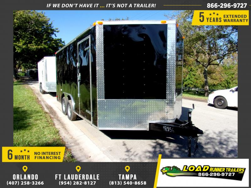 *112669* 8.5x16 Enclosed Cargo Trailer |LRT Tandem Axle Trailers 8.5 x 16