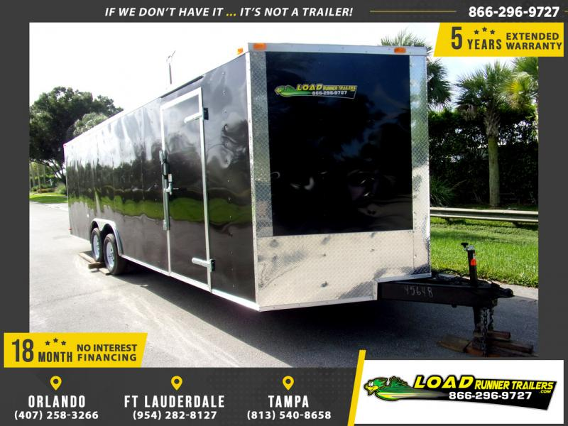 *110331* 8.5x24 Enclosed Cargo Trailer |LRT Tandem Axle Trailers 8.5 x 24