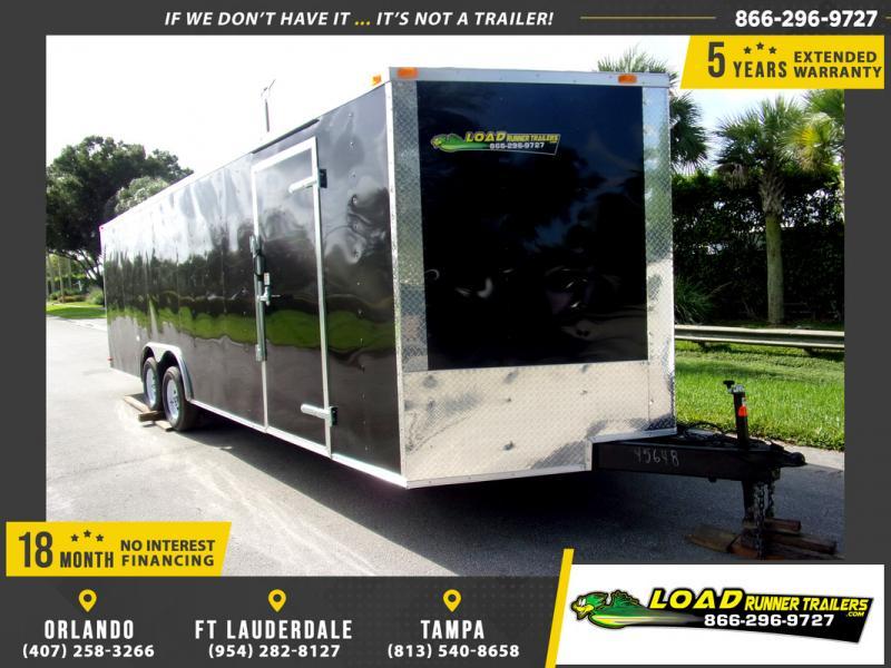 *110331* 8.5x24 Enclosed Cargo Trailer |LRT Tandem Axle Trailers 8.5 x 24