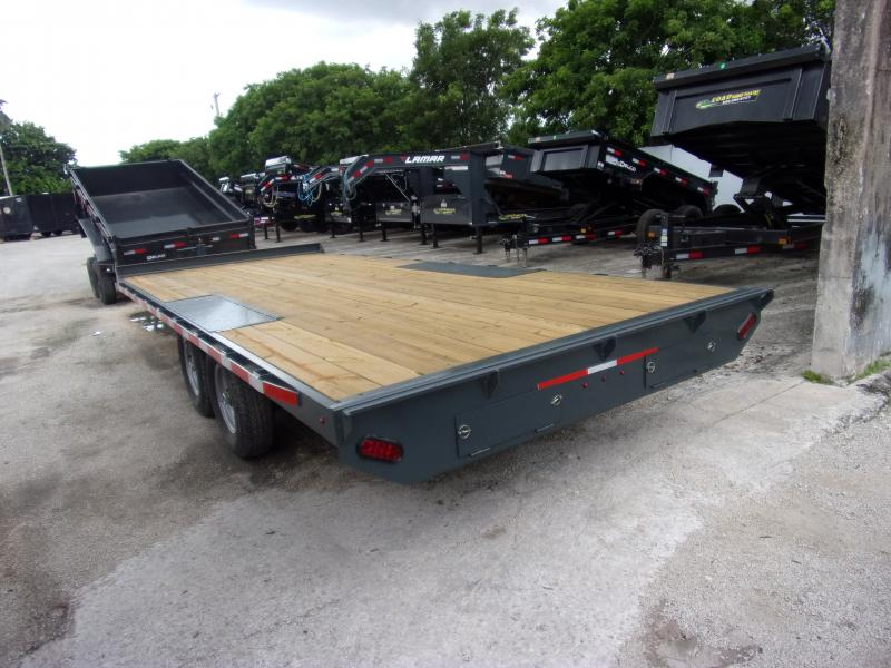 *117326* 8.5x20 Flatbed Deck Over Trailer |LRT Tandem Axle Trailers 8.5 x 20