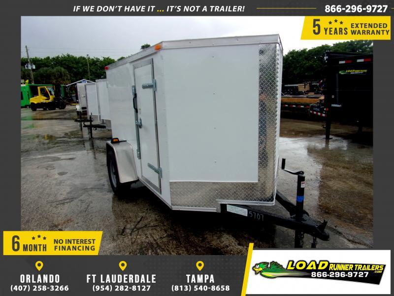 *E1-BBD* 5x8 Enclosed Cargo Trailer |LRT Haulers & Trailers 5 x 8 | EV5-8S3-D