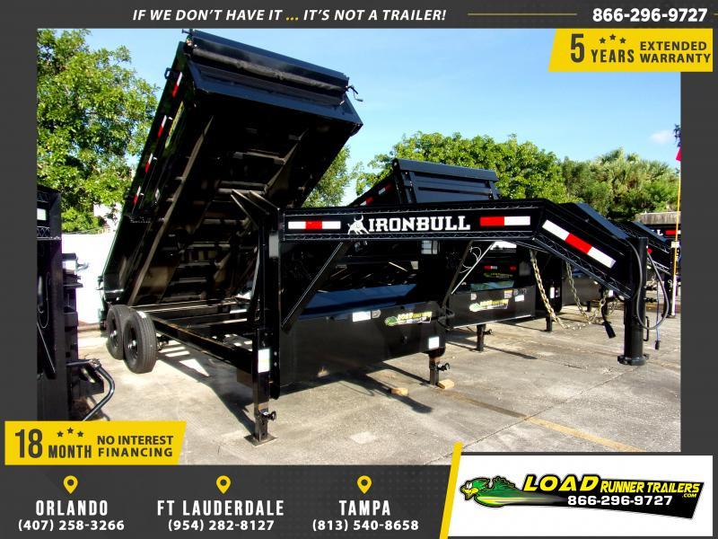 *109975* 7x16 Gooseneck Dump Trailer |LRT Tandem Axle Trailers 7 x 16