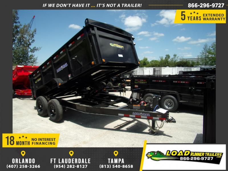 *114898* 7x14 Dump Trailer |LRT Tandem Axle Trailers 7 x 14