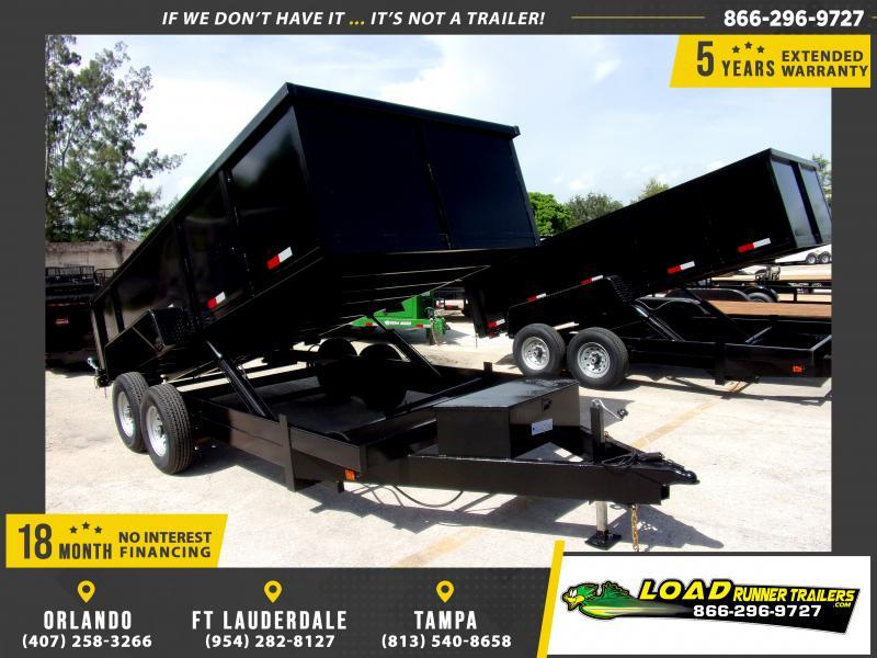 *116555* 7x16 Dump Trailer  LRT Tandem Axle Trailers 7 x 16