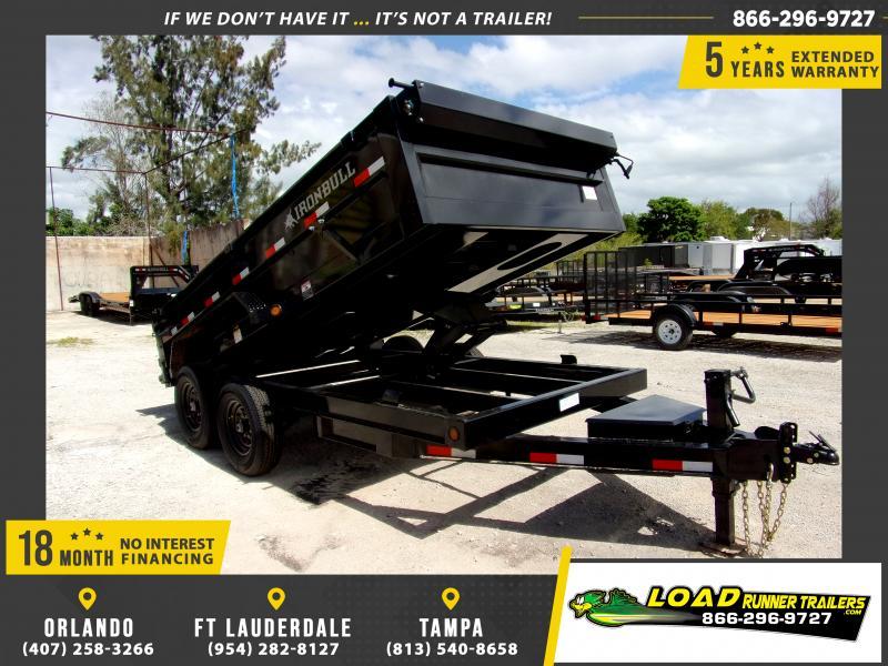 *115573* 7x14 Dump Trailer  LRT Tandem Axle Trailers 7 x 14