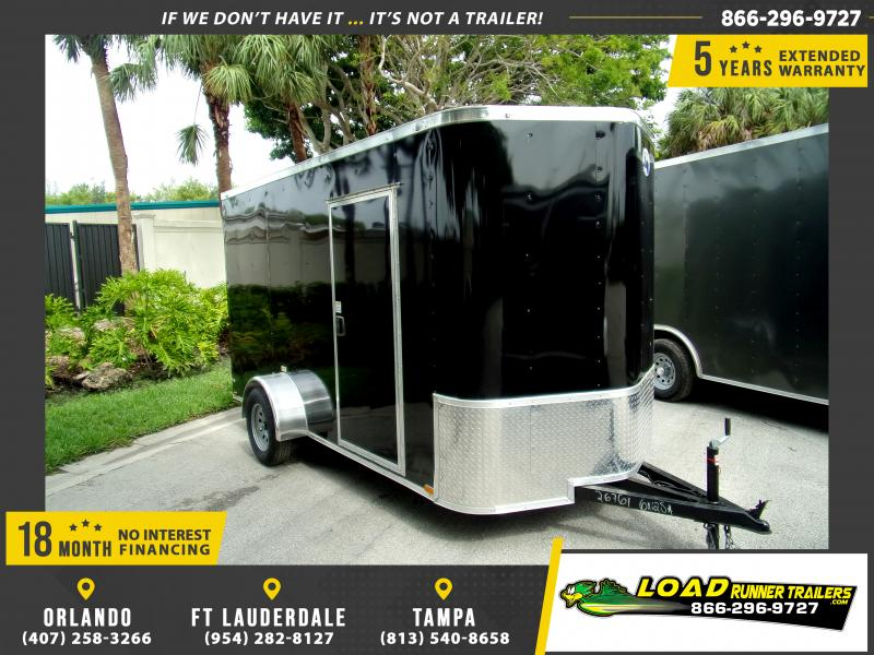 *116004* 6x12 Enclosed Cargo Trailer |LRT Tandem Axle Trailers 6 x 12
