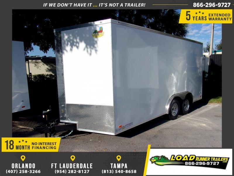 *115119* 8.5x16 Enclosed Cargo Trailer |LRT Tandem Axle Trailers 8.5 x 16
