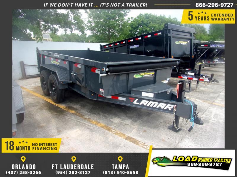*109303* 7x14 Dump Trailer |LRT Tandem Axle Trailers 7 x 14