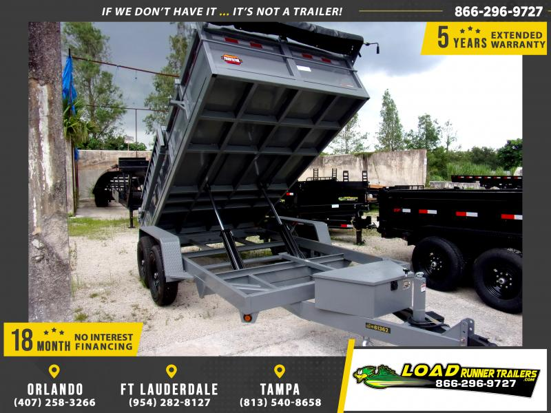 *110327* 6.5x14 Twin Piston 7 TON Dump Trailer |LRT Trailers 6.5 x 14