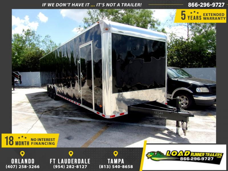 *109686* 8.5x36 Enclosed 2 Car Hauler Cargo Trailer 8.5 x 36
