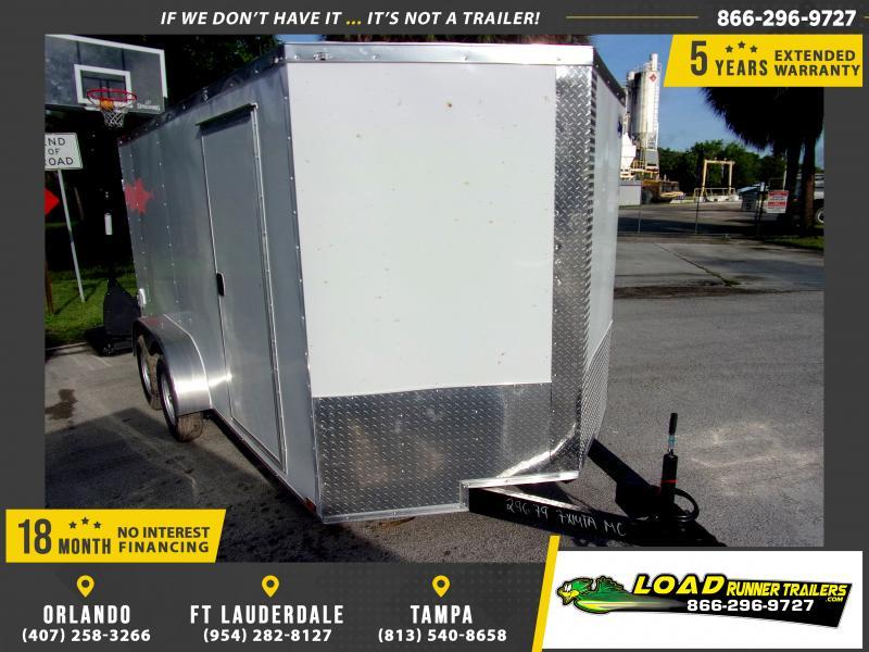 *117545* 7x14 Enclosed Cargo Trailer |LRT Tandem Axle Trailers 7 x 14