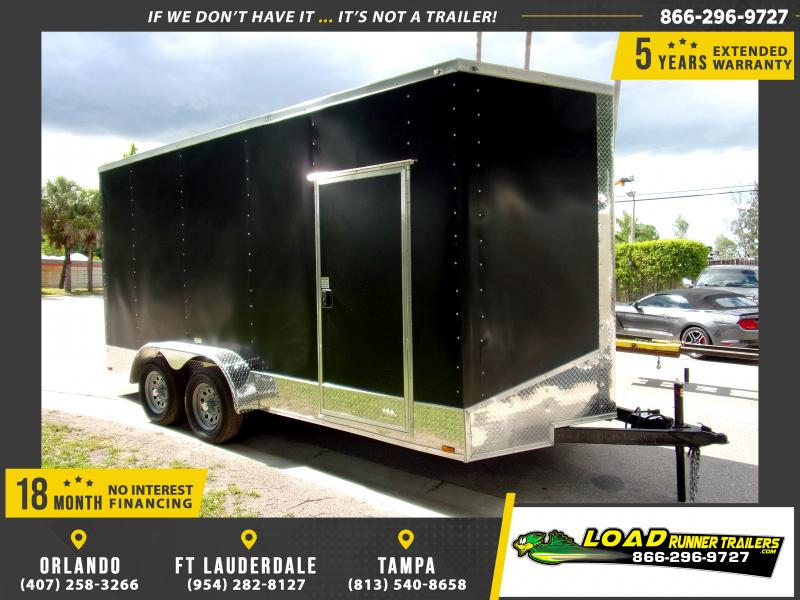 *115145* 7x16 Enclosed Cargo Trailer |LRT Tandem Axle Trailers 7 x 16