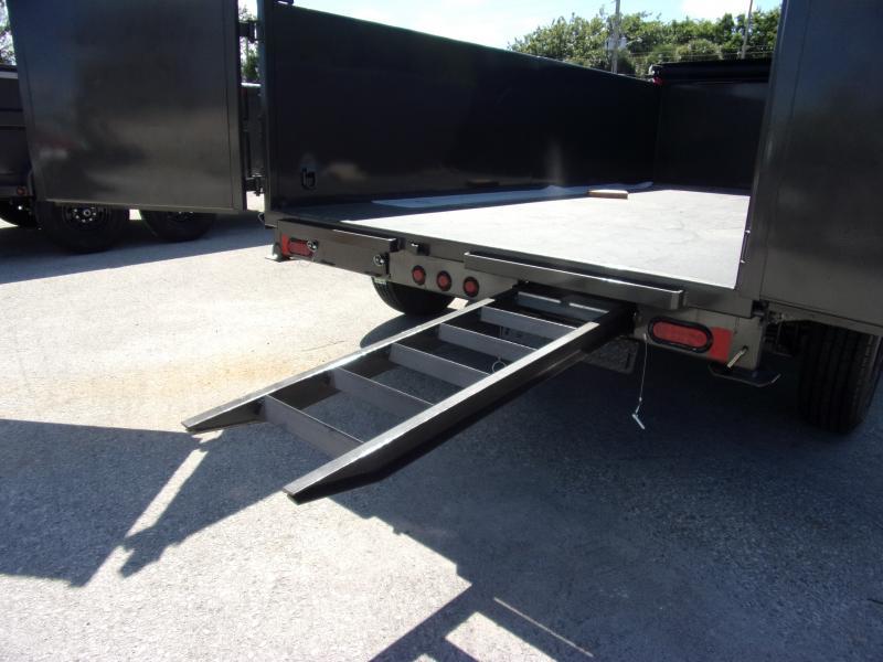 *111784* 7x14 Dump Trailer |LRT Tandem Axle Trailers 7 x 14