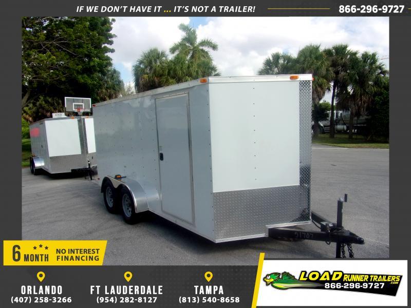*115446* 7x14 Enclosed Cargo Trailer |LRT Tandem Axle Trailers 7 x 14