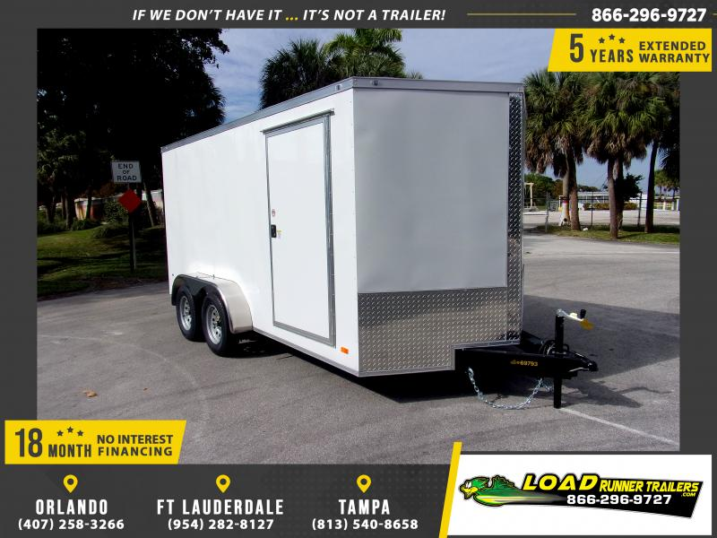 *113141* 7x14 Enclosed Cargo Trailer |LRT Tandem Axle Trailers 7 x 14