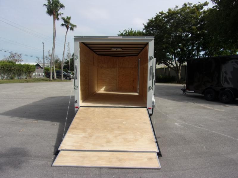 *113141* 7x14 Enclosed Cargo Trailer |LRT Tandem Axle Trailers 7 x 14