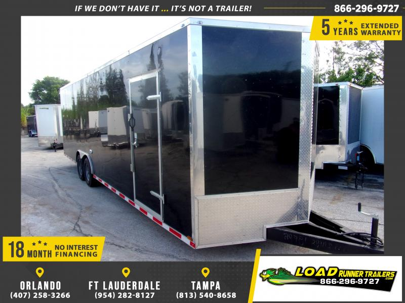 *117856* 8.5x28 Enclosed Cargo Trailer  LRT Tandem Axle Trailers 8.5 x 28