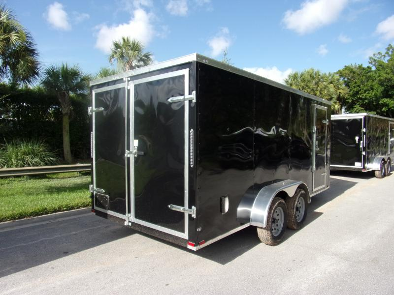 *110561* 7x16 Enclosed Cargo Trailer |LRT Tandem Axle Trailers 7 x 16