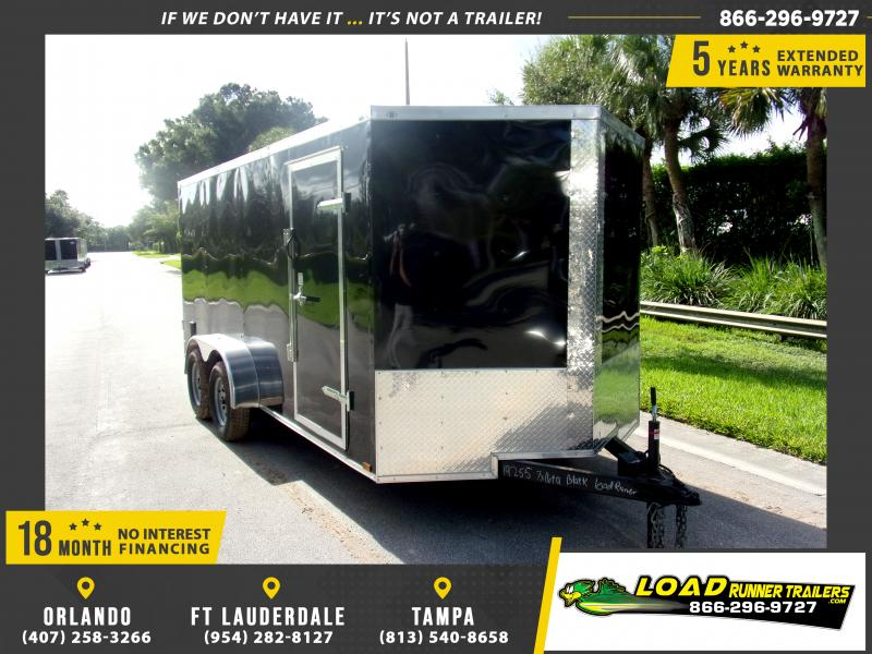*110561* 7x16 Enclosed Cargo Trailer |LRT Tandem Axle Trailers 7 x 16
