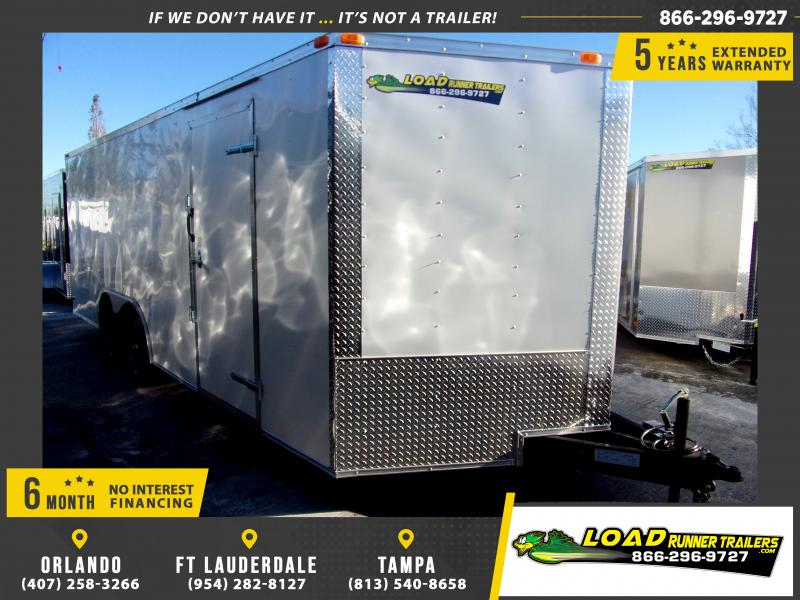 *113057* 8.5x20 Enclosed Cargo Trailer |LRT Tandem Axle Trailers 8.5 x 20