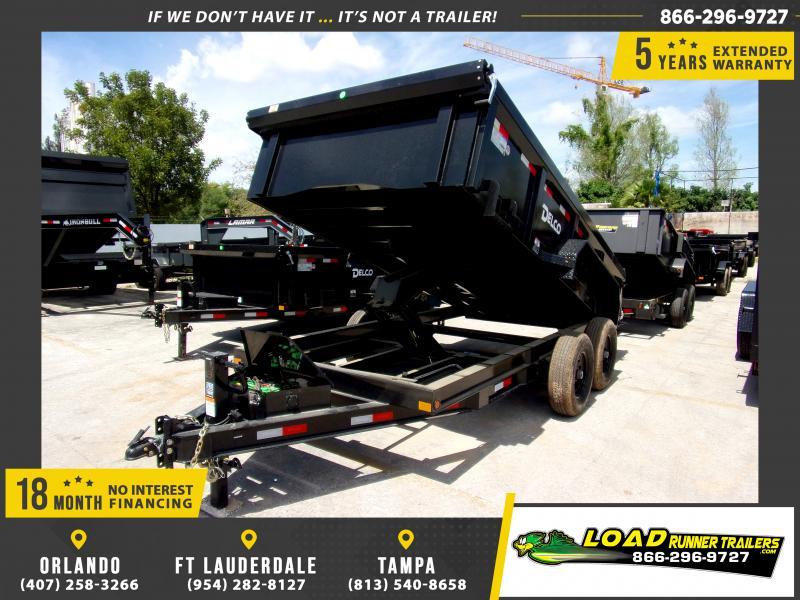 *114421* 7x14 Dump Trailer  LRT Tandem Axle Trailers 7 x 14