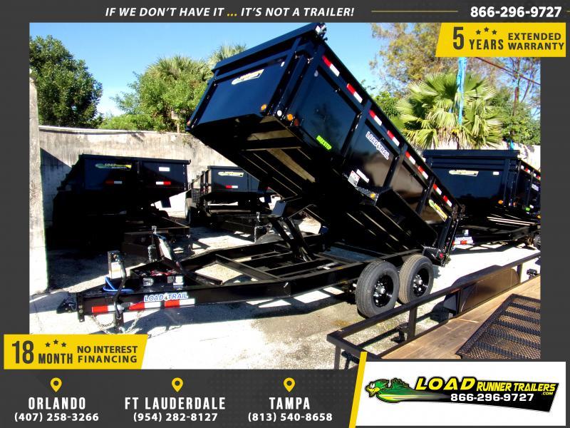 *114459* 7x14 Dump Trailer |LRT Tandem Axle Trailers 7 x 14