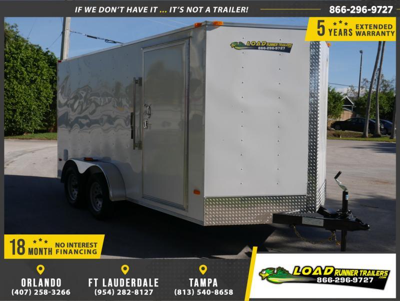 *E8H* 7x14 Enclosed Cargo Trailer |LRT Tandem Axle Trailers 7 x 14 | EV7-14T3-R