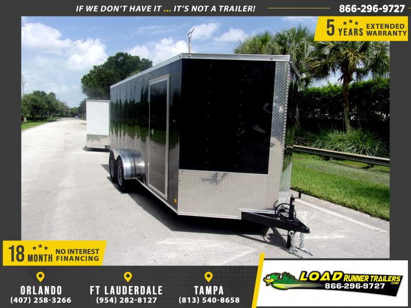 *110547* 7x16 Enclosed Cargo Trailer |LRT Tandem Axle Trailers 7 x 16