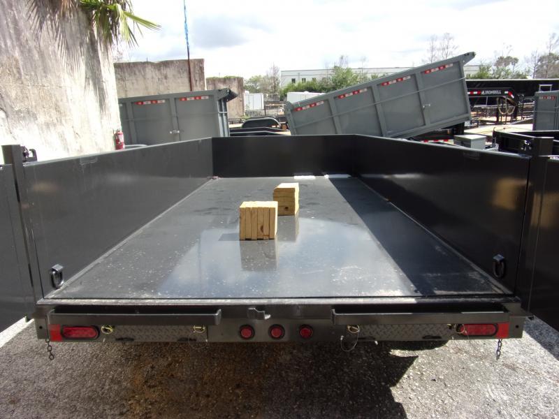 *115029* 7x14 Dump Trailer  LRT Tandem Axle Trailers 7 x 14