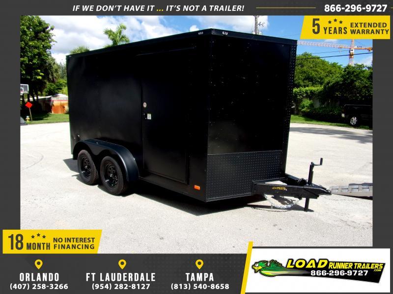 *117899* 7x12 Enclosed Cargo Trailer |LRT Tandem Axle Trailers 7 x 12