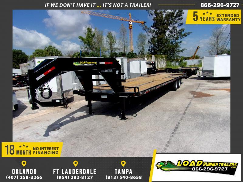 *114323* 8.5x32 Gooseneck Flatbed Deck Over Trailer |LRT Haulers & Trailers 8.5 x 32
