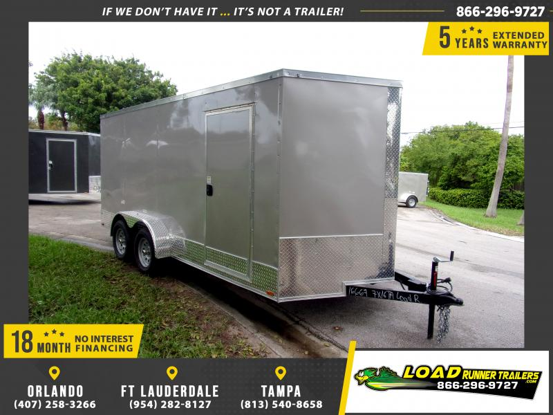 *112387* 7x16 Enclosed Cargo Trailer |LRT Tandem Axle Trailers 7 x 16