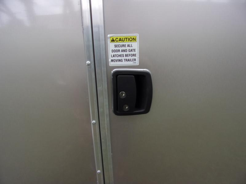 *112387* 7x16 Enclosed Cargo Trailer  LRT Tandem Axle Trailers 7 x 16