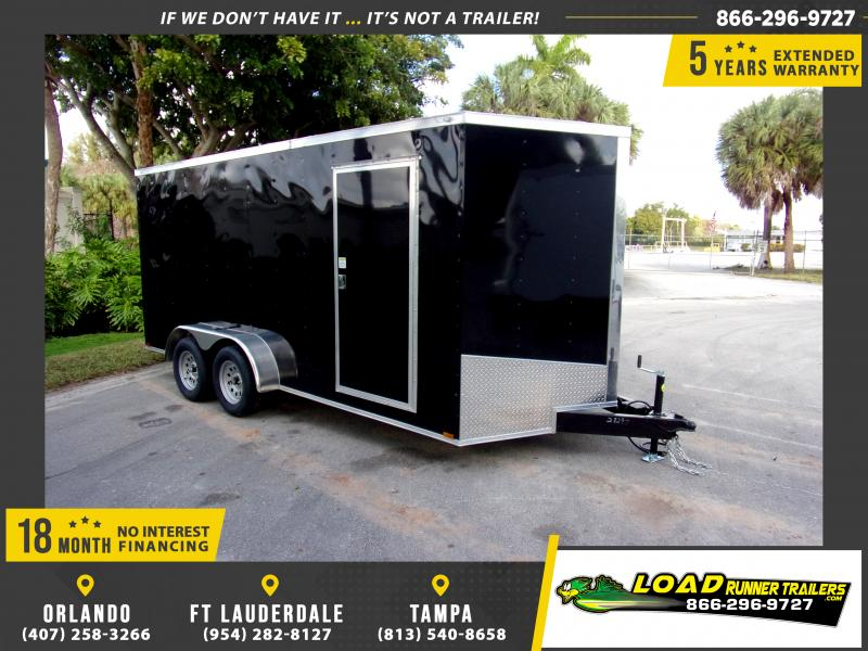 *116596* 7x16 Enclosed Cargo Trailer  LRT Tandem Axle Trailers 7 x 16