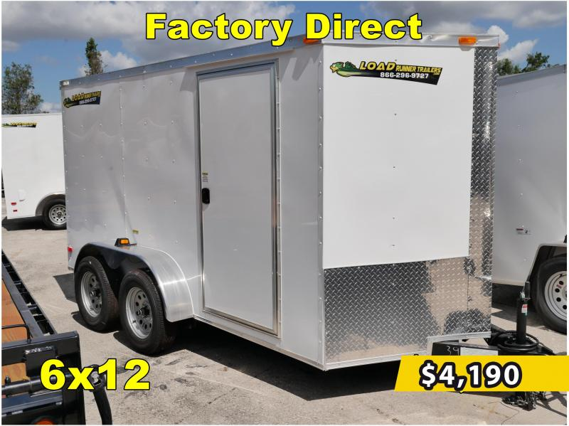 *FD612T3* 6x12 FACTORY DIRECT!| Enclosed Cargo Trailer |Trailers 6 x 12
