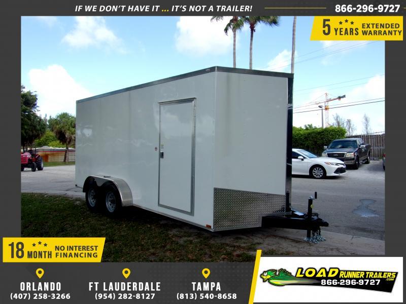 *114046* 7x16 Enclosed Cargo Trailer |LRT Tandem Axle Trailers 7 x 16