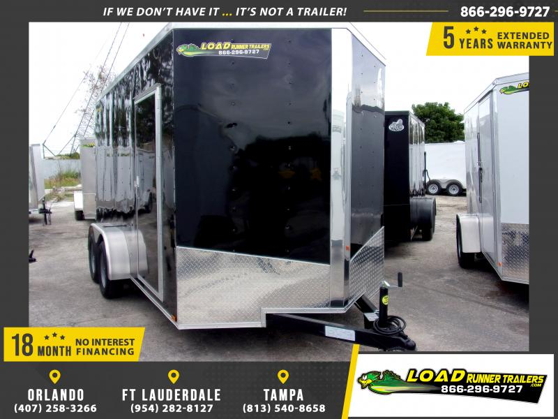 *113049* 7x14 Enclosed Cargo Trailer |LRT Tandem Axle Trailers 7 x 14