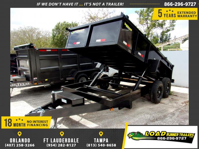 *116282* 7x14 Dump Trailer |LRT Tandem Axle Trailers 7 x 14