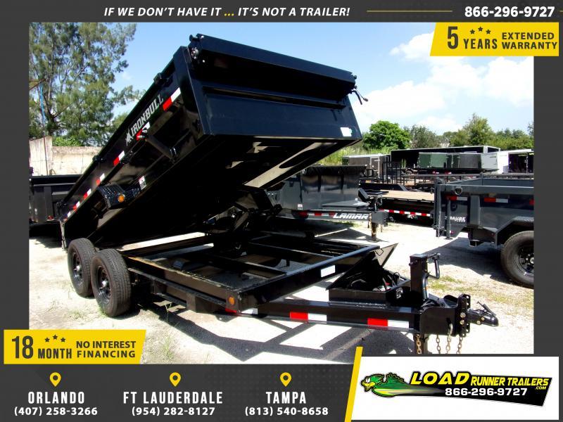 *117103* 7x14 Dump Trailer |LRT Tandem Axle Trailers 7 x 14