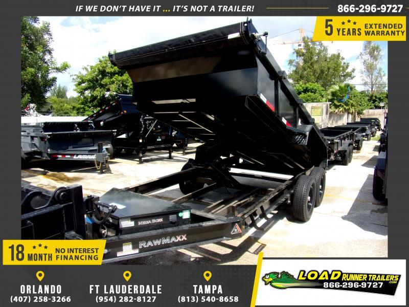 *117343* 7x14 Dump Trailer |LRT Tandem Axle Trailers 7 x 14