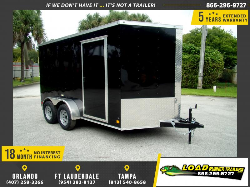 *115180* 7x12 Enclosed Cargo Trailer |LRT Tandem Axle Trailers 7 x 12