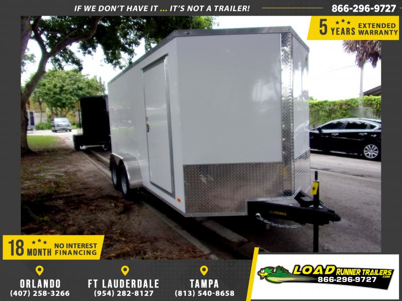 *115161* 7x14 Enclosed Cargo Trailer |LRT Tandem Axle Trailers 7 x 14