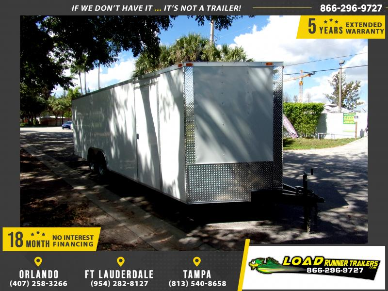 *113966* 8.5x24 Enclosed Cargo Trailer |LRT Tandem Axle Trailers 8.5 x 24