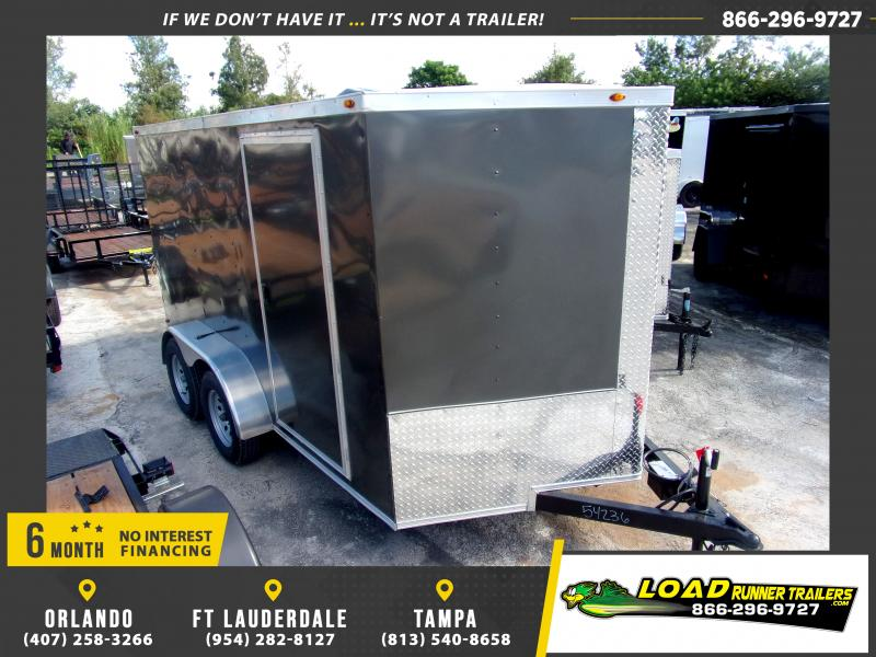 *117771* 7x12 Enclosed Cargo Trailer  LRT Tandem Axle Trailers 7 x 12