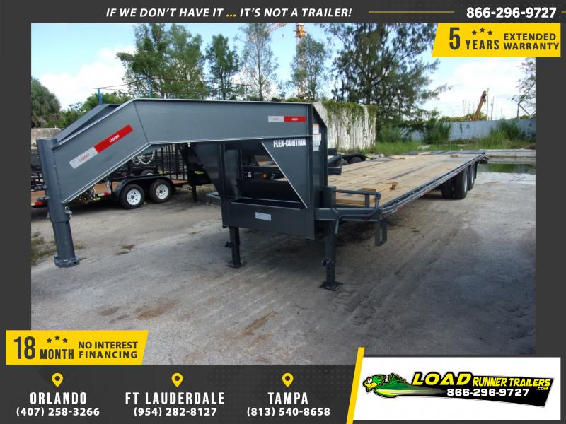 *114830* 8.5x32 Gooseneck Flatbed Deck Over Trailer |LRT Haulers & Trailers 8.5 x 32