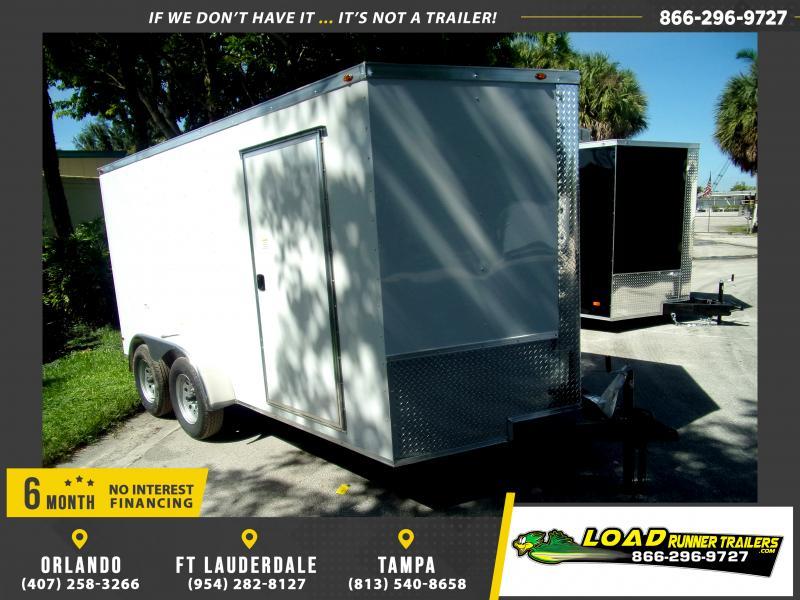 *117973* 7x14 Enclosed Cargo Trailer  LRT Tandem Axle Trailers 7 x 14