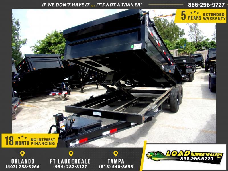 *117106* 7x16 Dump Trailer |LRT Tandem Axle Trailers 7 x 16